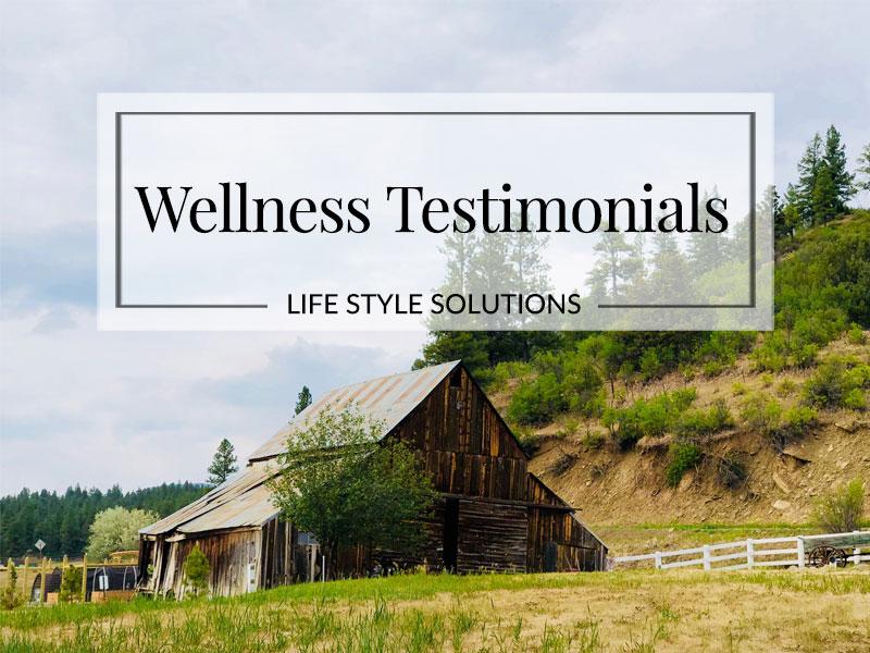 Testimonials Wellness - Susan B  Dopart